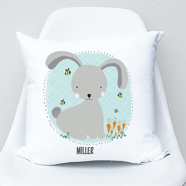 Boy bunny personalised kids cushion - Happy Joy Decor