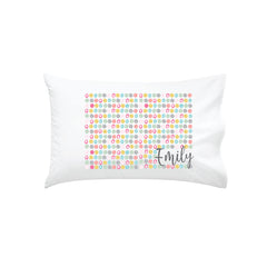 Spring Dots Personalised Pillowcase - Happy Joy Decor