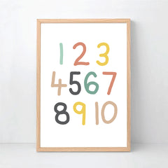 Giraffe Personalised Alphabet & Number Print Set - Name Prints - Happy Joy Decor