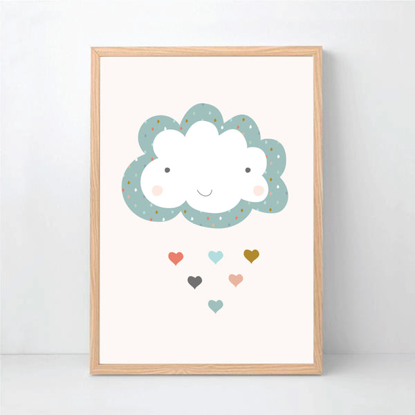 Happy Cloud Printable Wall Art - Happy Joy Decor