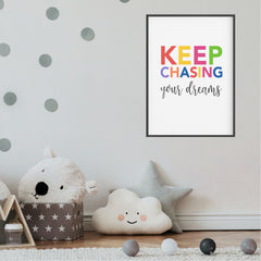 Keep Chasing Your Dreams Printable Wall Art - Kids Neutral Prints - Happy Joy Decor