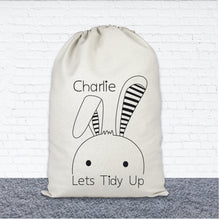 Load image into Gallery viewer, Personalised Toy Storage Bag - Bunny