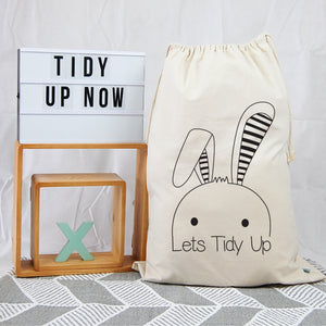 Personalised Toy Storage Bag - Bunny