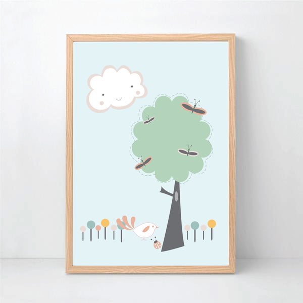 Lovely Tree Printable Wall Art - happy Joy Decor