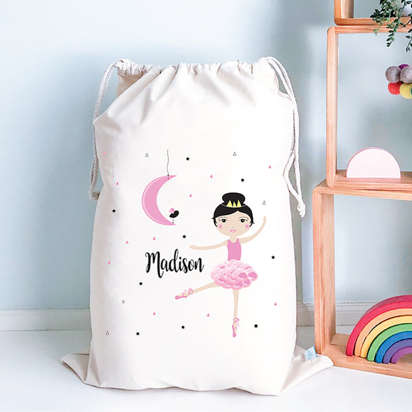 Ballerina Personalised Toy Storage Sack