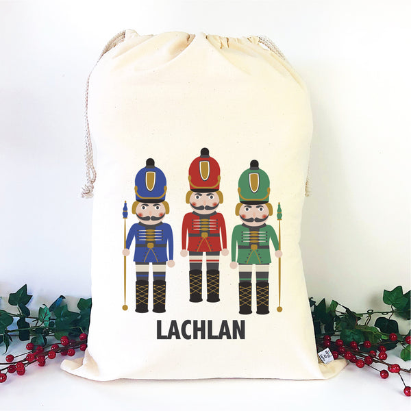 Nutcracker Personalised Christmas Sack - Happy Joy Decor