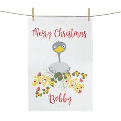 Emu Christmas Personalised Tea Towel - Happy Joy Decor