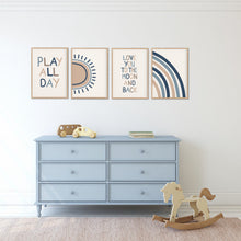 Load image into Gallery viewer, Play All Day Print Set - Playroom Poster - Happy Joy Decor