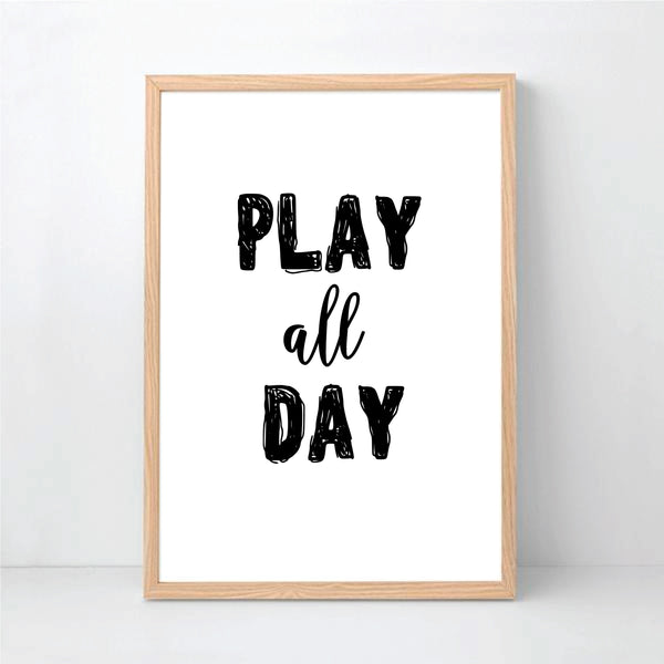 Play All Day Printable Art - Happy Joy Decor