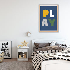 Play Kids Instant Download Wall Art Print - Happy Joy Decor