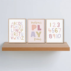 girls playroom posters - personalised girls prints - Happy Joy Decor