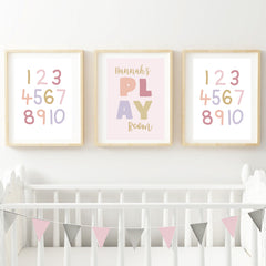 Play Personalised Wall Print Set - Happy Joy Decor