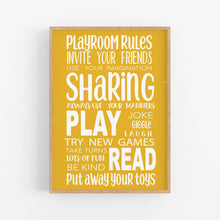 Load image into Gallery viewer, Playroom Rules Wall Print - Happy Joy Decor