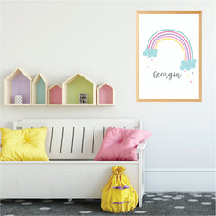 Rainbow Printable Personalised Wall Print - Happy Joy Decor