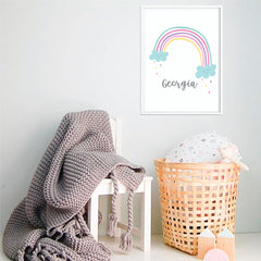 Rainbow Personalised Wall Print - Happy Joy Decor