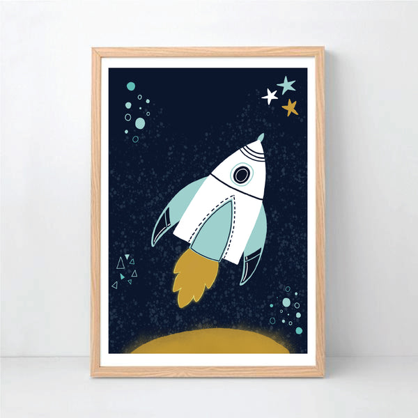 Rocket Printable Art - Happy Joy Decor