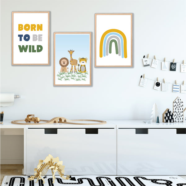 Animal Safari Wall Art Set - Happy Joy Decor
