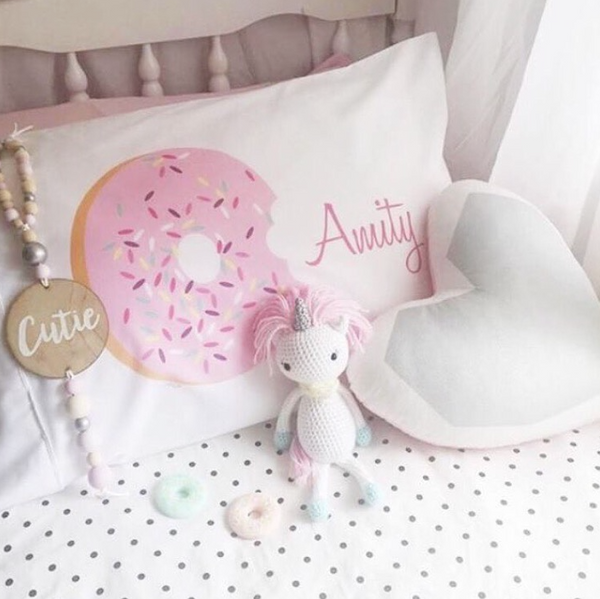 Donut Personalised Pillowcase