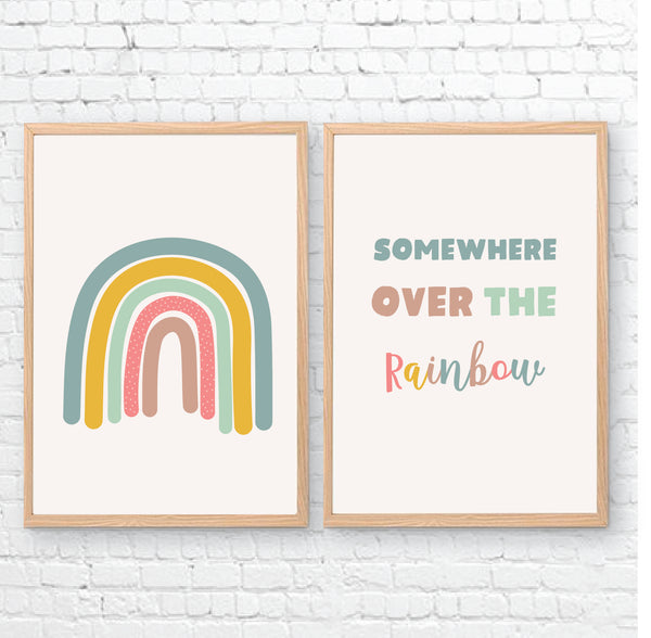 Somewhere Over The Rainbow Printable Wall Art - Happy Joy Decor