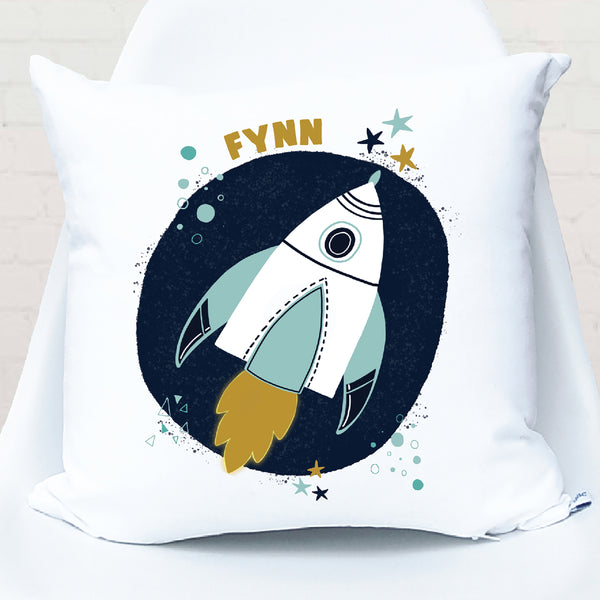 Space Rocket Personalised Cushion - Happy Joy Decor