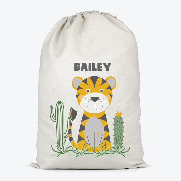 Tiger Personalised Kids Storage Sack