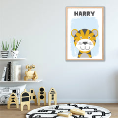 Happy Tiger Personalised Print - Happy Joy Decor