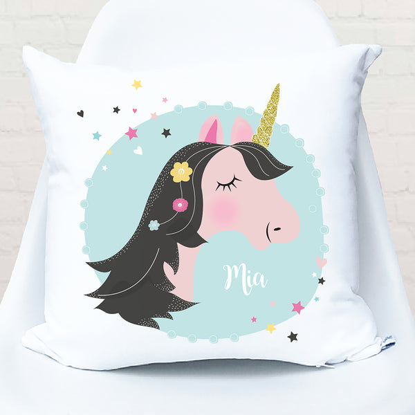 Unicorn personalised cushion - Happy Joy Decor