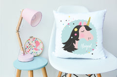 Unicorn Girls Personalised Cushion