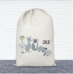 Personalised Toy Storage Bag - Australian Animals - Happy Joy Decor