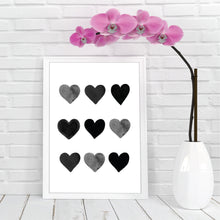 Load image into Gallery viewer, Black Heart Print - Monochrome Prints - Happy joy Decor