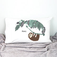Boys Sloth Personalised Pillowcase - Happy Joy Decor