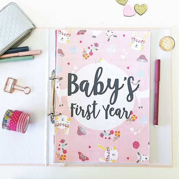 Boho wonderland baby printable journal 0-12 months - Happy Joy Decor