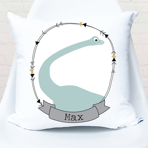 Brontosaurus Personalised Cushion - Happy Joy Decor
