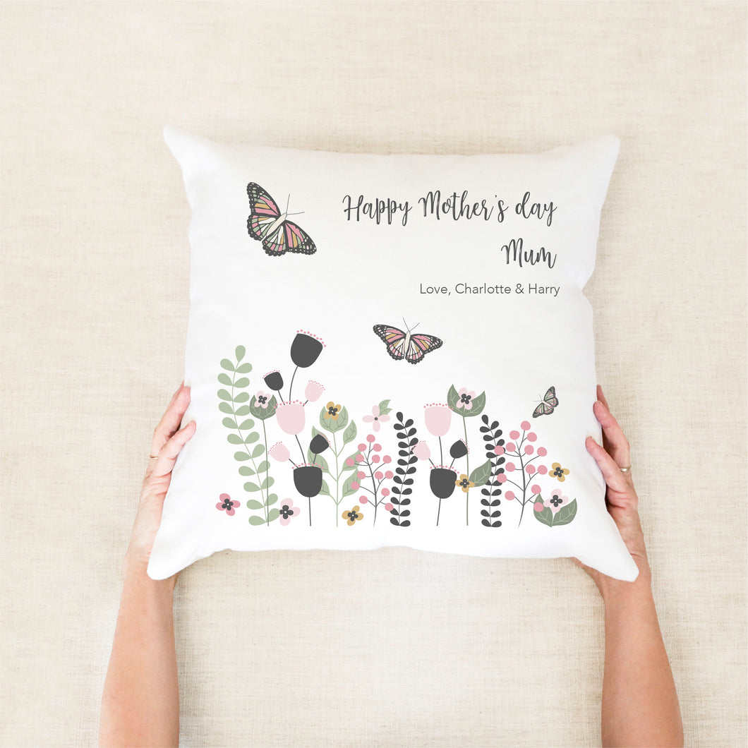 Butterfly Garden Personalised Cushion