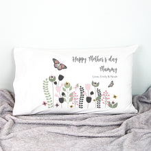 Load image into Gallery viewer, Butterfly Garden Personalised Pillowcase - Mothers Day gifts - Happy Joy Decor