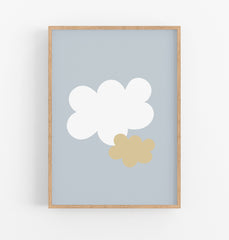 Kids Cloud Printable - Nursery Wall Art - Happy Joy Decor