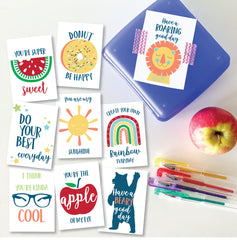 Colourful Lunch Box Personalised Notes - Happy Joy Decor