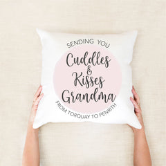 Cuddles Personalised Cushion - Mothers day gifts - Happy Joy Decor