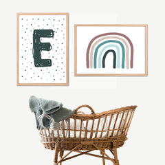Earth Rainbow Personalised Monogram Print Set - Happy Joy Decor