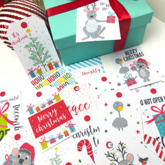 Aussie Christmas Printable Gift Tags - Happy Joy Decor