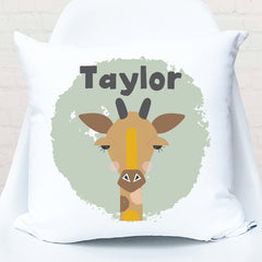 Giraffe personalised kids cushion - Happy Joy Decor