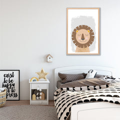 Brave Lion Wall Art Printable Instant Download - Happy Joy Decor