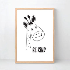 Be Brave Silly Kind Animal Print Set - Happy Joy Decor