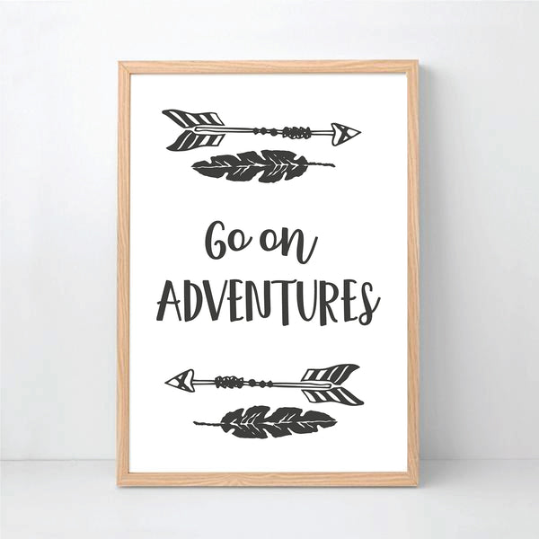 Go On Adventures Instant Download Wall Art Print - Happy joy Decor