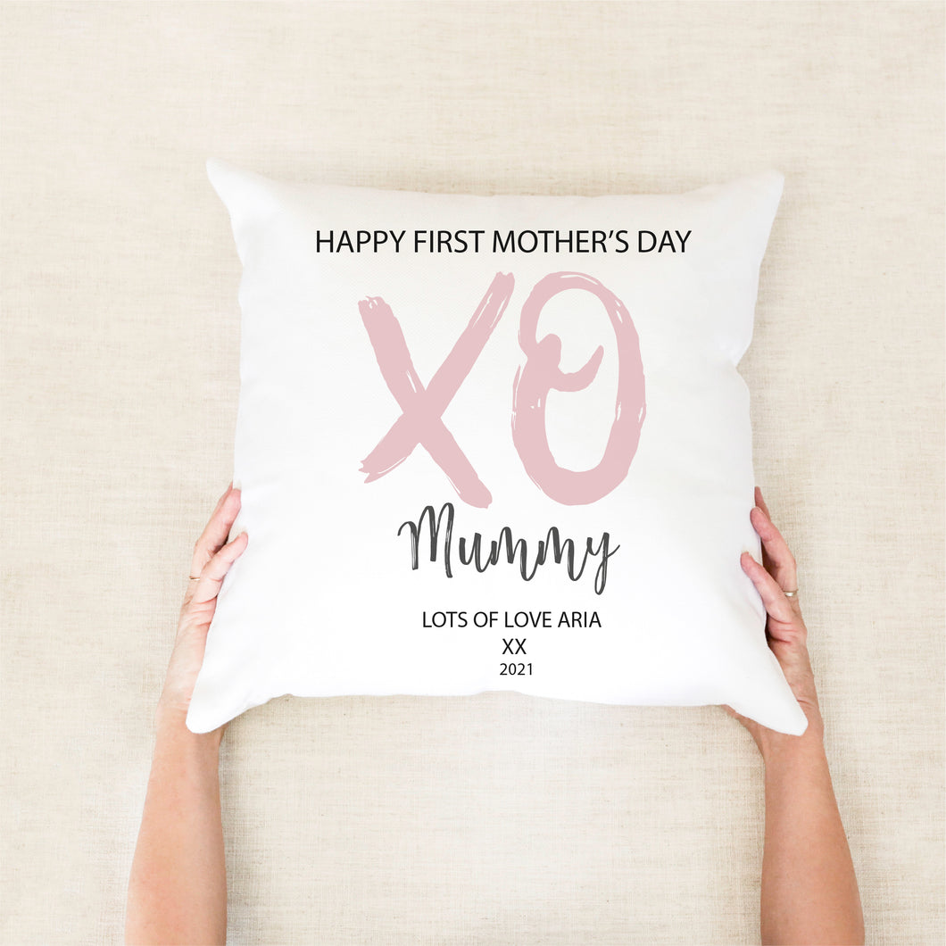 Happy First Mother's Day Personalised Cushion - Happy Joy Decor