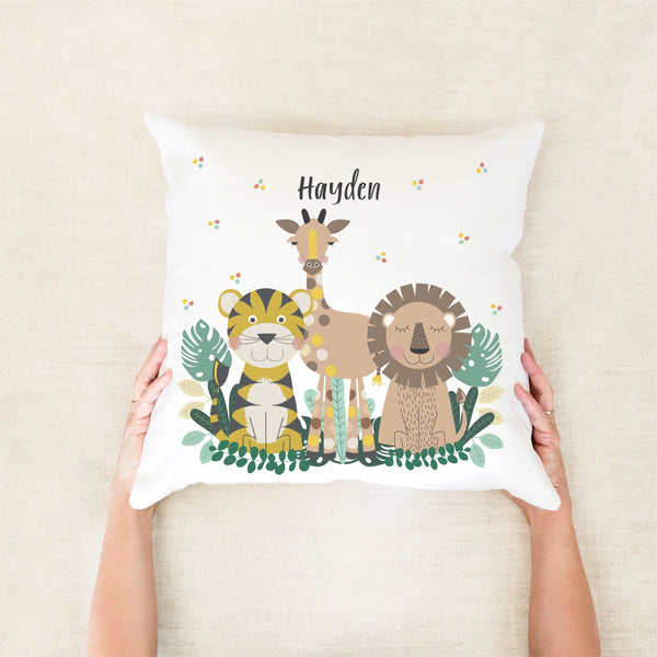 Jungle Animal Personalised Cushion