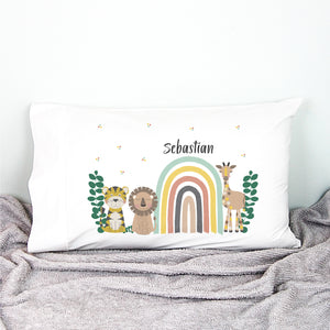 Jungle Animal Personalised Pillowcase - Happy Joy Decor
