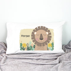 Lion Personalised Pillowcase