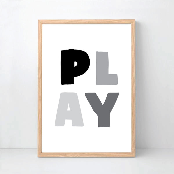 Monochrome Play Printable Wall Art - Happy Joy Decor