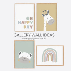 Oh Happy Day Print - Kids Wall Art - Happy Joy Decor